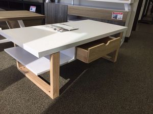 Stylish Coffee Table, White & Weathered for Sale in Norwalk, CA