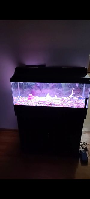 Aquarium with cabinet for Sale in Homer Glen, IL