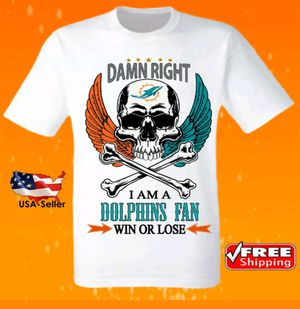 Miami Dolphins NFL Football Team Logo Jersey Game Day Shirt for Sale in Hollywood, FL