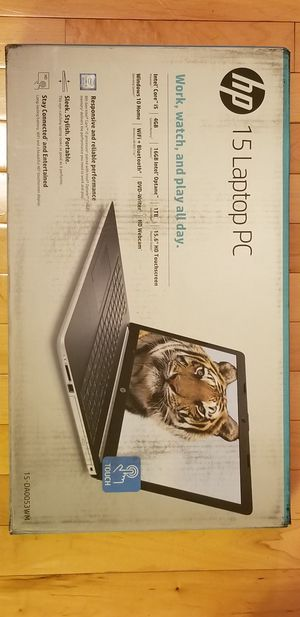 "HP 15.6"" laptop pc intel for Sale in Neenah, WI"