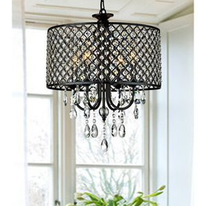 4 - Light Candle Style Drum Chandelier with Crystal Accents for Sale in Los Angeles, CA