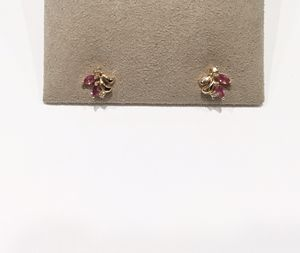 14KT Yellow Gold Pink Sapphire and Diamond Earrings for Sale in Phoenix, AZ
