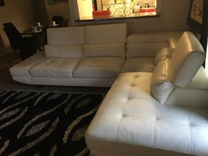 Selling White Leather Couch for Sale in Alexandria, VA