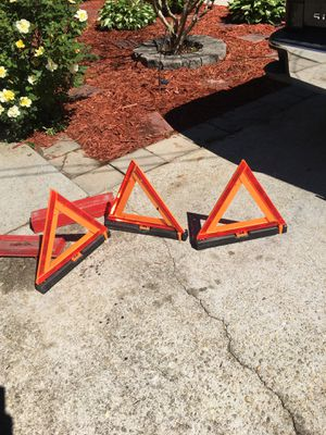 Safety triangles Get all 3. For $10 price is firm must pick up in Lawrenceville for Sale in Lawrenceville, GA