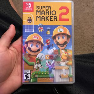 Super Mario Maker 2 For Nintendo Switch $50 (Pick Ups Only) Depends on city for Sale in Rancho Cucamonga, CA