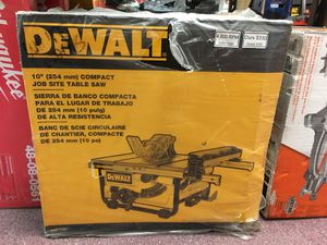 "New Dewalt 10"" Jobsite Table Saw. DWE7480 for Sale in Waltham, MA"