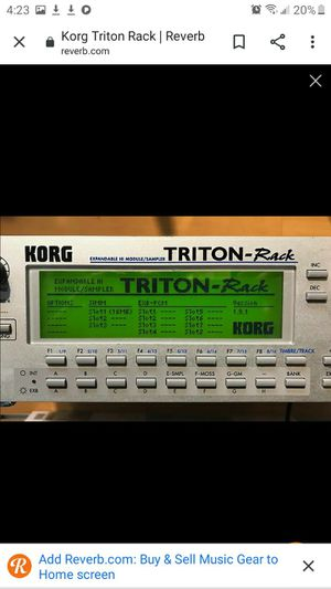 Used Korg TRITON RACK Synthesizers Rackmount for Sale in Howell Township, NJ