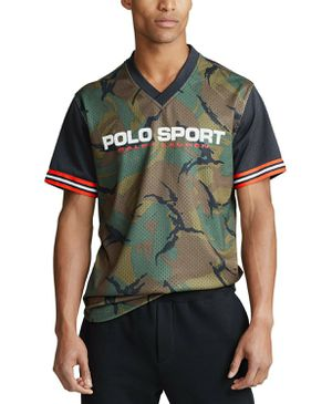 $110 Polo Sport Ralph Lauren Men's Performance Bear Mesh V-Neck Camo Jersey Shirt - BRAND NEW WITH TAGS for Sale in Gaithersburg, MD