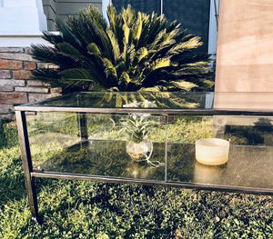 "New Terrance 42 1/2"" wide Metal and Glass coffee Table.PICK UP BY ASHLAN AND TEMPERANCE IN CLOVIS$$FIRM$$ for Sale in Clovis, CA"