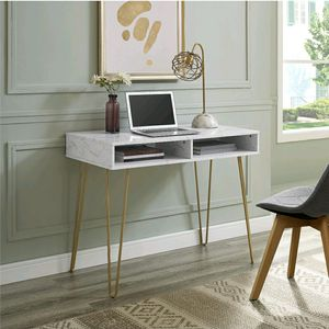 New inbox desk with storage marble and gold for Sale in Inman, SC