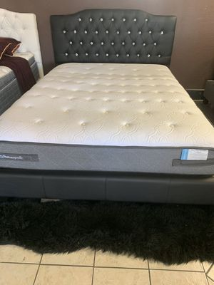 ‼️2020 SALE ‼️QUEEN BED ONLY $199 OR $349 WITH BAMBOO MATTRESS for Sale in Victorville, CA