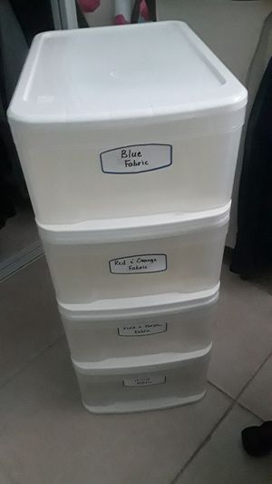 Plastic organizer storage container for Sale in North Lauderdale, FL