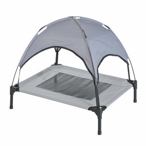 Elevated Portable Dog Cot Cooling Pet Bed with UV Protection Canopy Shade for Sale in Canoga Park, CA