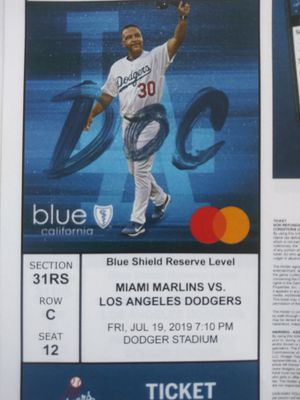 2 dodger tickets Friday, July 19, section 31RS, seats 12 and 13, Row C $35 a ticket for Sale in Baldwin Park, CA