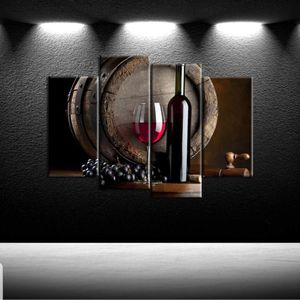 Contemporary Kitchen Canvas Artwork Fruits Grapes Wine for Dining Room Wall Decor Home Decoration for Sale in Los Angeles, CA