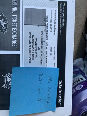 Blue jackets luxury suite tickets $75 each for Sale in Columbus, OH