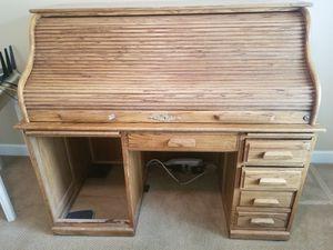 Desk, oak roll top for Sale in Kennewick, WA