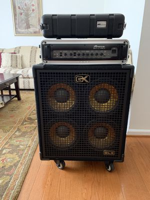 Ampeg svt7 pro 1000 watts $ 800 Nuevo Box custom audio (carry ) $250 Speaker GK 400 watts $300 Set completo for Sale in Silver Spring, MD
