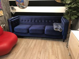 Brand New Blue Velvet Sofa for Sale in Virginia Beach, VA