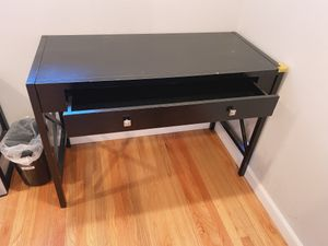 Ikea desk table black w. drawer for Sale in Milpitas, CA