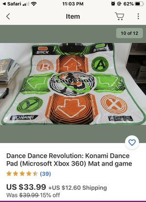 Dance pad and game XBOX 360 for Sale in Southwest Ranches, FL