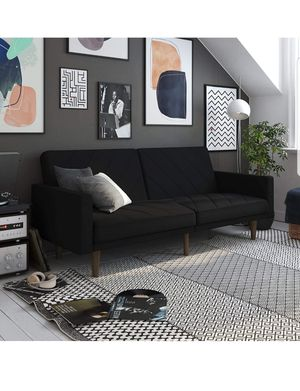 Black Futon Couch for Sale in Rancho Cucamonga, CA