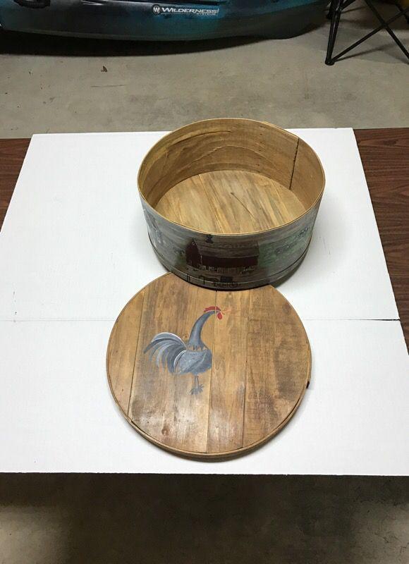 Wood Painted Basket
