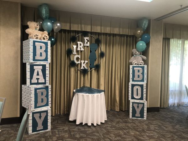 Centerpieces and Baby Boy boxes for sale