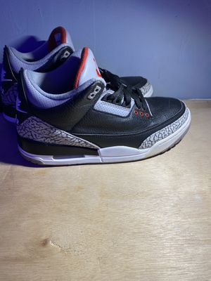 Jordan 3 black cement (No Box) for Sale in Fort Mill, SC