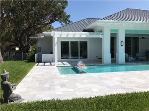 ICE White Marble French Pattern Pavers , Pool Tile for Sale in Pompano Beach, FL