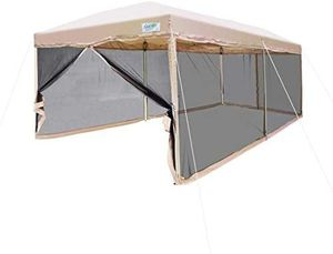 Screened in Tent (Tan, 10 x 20 ft) and weights for Sale in Alexandria, VA