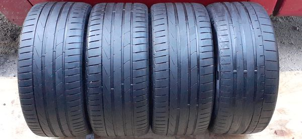 4 tires 245 35 19 low pro continental & hankook excellent condition