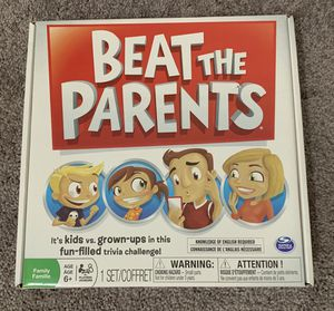 In Box Spin Master Beat The Parents Kids Junior Toddler Family Play Time Game for Sale in Chapel Hill, NC