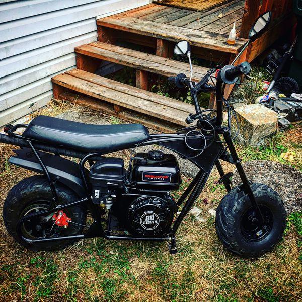 New 212cc Swapped Little Monster Moto 80cc Mini Bike! Runs Perfect!