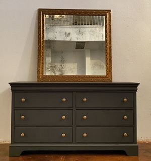 Solid wood charcoal Dresser for Sale in Austin, TX
