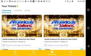 3 Free America's Got talent tickets for Sale in Tustin, CA