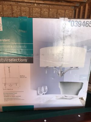 Contemporary drum style hanging light fixture for Sale in Salt Lake City, UT