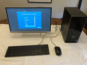 "Dell Inspiron 3668 250Gb SSD/1TB HDD/16GB RAM /22"" HP Monitor for Sale in Reisterstown, MD"