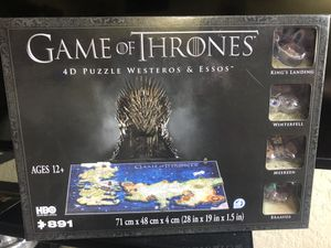 Game of Thrones 4D Puzzle Westeros & Essos for Sale in Rancho Cordova, CA