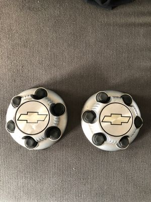 FREE! 2 center caps for Chevy Silverado/work van 6 lug for Sale in Leesburg, VA