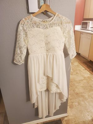 Sequin hearts girls size 14 Ivory lace dress for Sale in Beaverton, OR