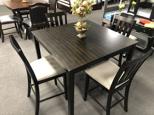 5PC charcoal Dining Table Set for Sale in Fresno, CA