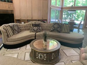 Very nice sectional couch splits into two parts for easier moving MSRP $4,000 for Sale in Dublin, OH