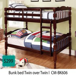 Bunk Bed Twin Over Twin for Sale in Carson,  CA