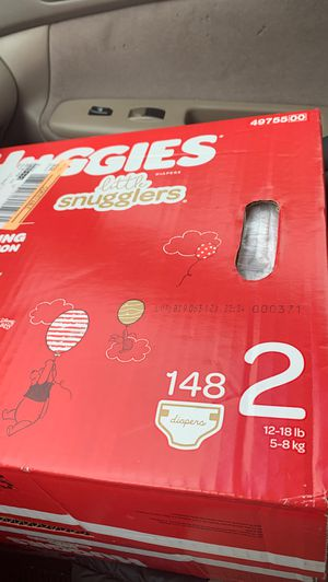 2 boxes 148 count Huggies size 2 little snugglers brand new unopened for Sale in West Springfield, MA