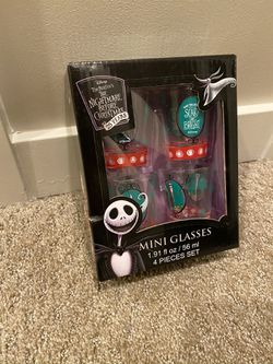 Tim Burtons The Nightmare Before Christmas Mini Glasses 4 Pack for Sale in Bellevue,  WA