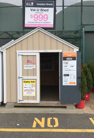 Sheds USA 8x10 Value Plus Display Shed on sale at The Home Depot in Freeport NY for Sale in Point Lookout, NY