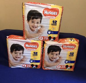 Huggies Diaper Set - Sizes 4 or 5 - (Please Review The Full Ad) for Sale in Philadelphia, PA