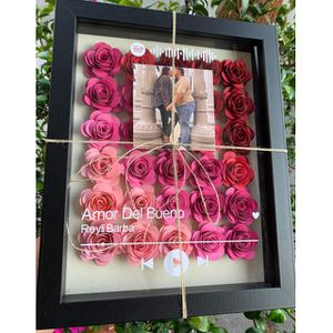 Flower shadow box with Spotify code! ✨ for Sale in Gardena, CA