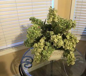 Silk flowers in ceramic pot for Sale in Saint Cloud, FL